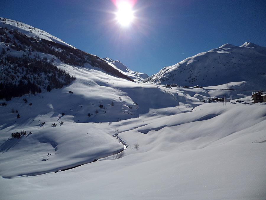 Panorama neve Livigno